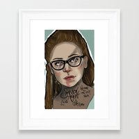 cosima Framed Art Prints featuring Cosima Niehaus Illustration by ShannonArgent