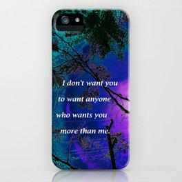 """""""Silk Tree Leaves #7"""" with poem: Retouched iPhone Case"""