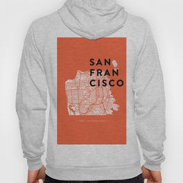 San Francisco Map 04 Hoody