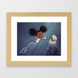 Beautiful Mermaid Framed Art Print