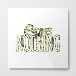 Rue Nothing Camo Logo Metal Print