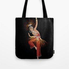 """""""Firebird Dancer"""" Art Deco Image Tote Bag"""