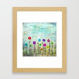 Wicked little flowers. Framed Art Print