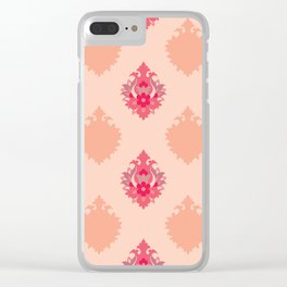 Shah-Abbasi Flower Pattern (Pink) Clear iPhone Case