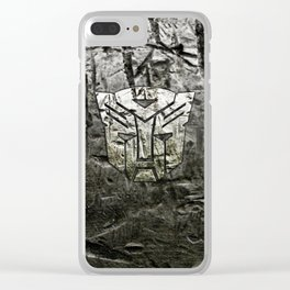 Autobot steel Clear iPhone Case