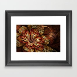 Autumn Glory  - Abstract Fractal Artwork Framed Art Print