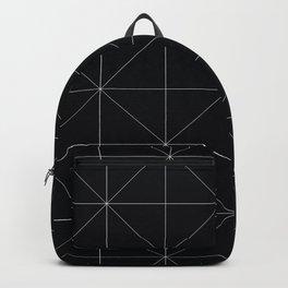 Geometric black and white Backpack