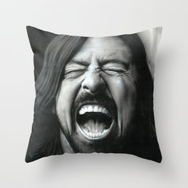'Grohl In Black III' Throw Pillow