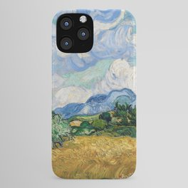 Wheat Field with Cypresses by Vincent van Gogh iPhone Case