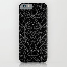 Abstract Collide Outline White on Black iPhone 6s Slim Case