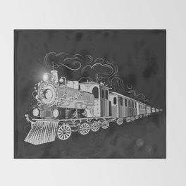 A nostalgic train Throw Blanket