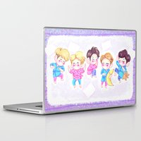 shinee Laptop & iPad Skins featuring SHINee Sleepover by sophillustration