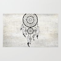 dreamcatcher Area & Throw Rugs featuring Dreamcatcher by Nora Bisi