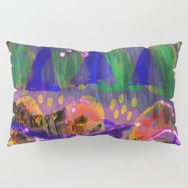 Abstract Landscape with triangles and circles Pillow Sham