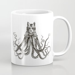 Octopussy | Hybrid Cat and Octopus | Vintage Animals | Black and White | Coffee Mug