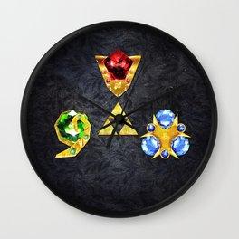 The Timeless Legend of Zelda Inspired Spiritual Stones Wall Clock