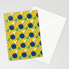 Leopard Geo Mix Pattern Multi Color - Yellow Stationery Cards