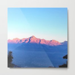 Alps Without Winters Dust Metal Print