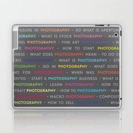 Photography Colored Keywords Laptop & iPad Skin