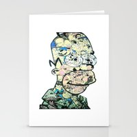 homer Stationery Cards featuring Homer Color by Drew Kochell