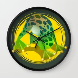 Yoga Downward Facing Frog Wall Clock