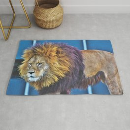 Lion With Purple Mane Rug