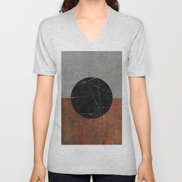 Abstract - Marble, Concrete, Rusted Iron Unisex V-Neck