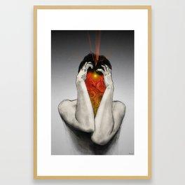 A Kernel of Inspiration Amidst Inner Turmoil Framed Art Print