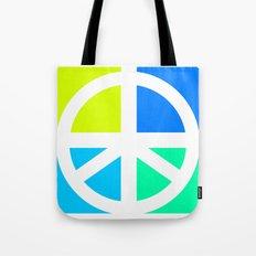 Peace Symbol Abstract Tote Bag