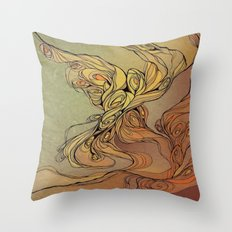 abstract floral composition 2 Throw Pillow