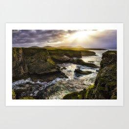 Light on the Cliffs Art Print