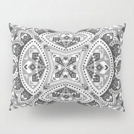 Gray Boho Quilt Pillow Sham