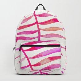 Pink Palm Leaf Backpack