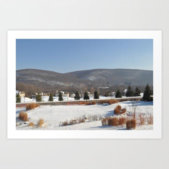 Winter Snow Scene Landscape Photo Art Print