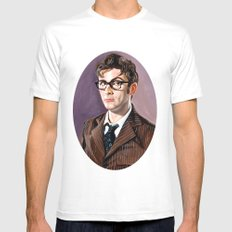 The Tenth Doctor White Mens Fitted Tee MEDIUM