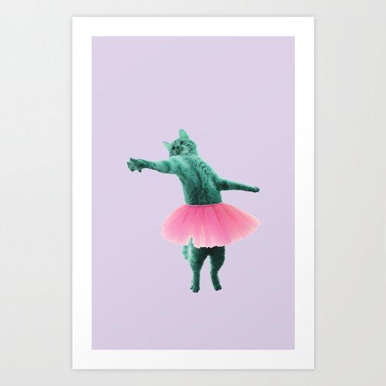 ballerina Cat Art Print
