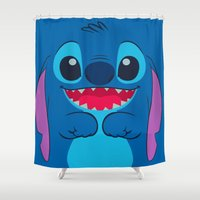 stitch Shower Curtains featuring stitch by customgift