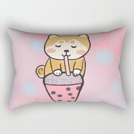 Boba with shiba Rectangular Pillow