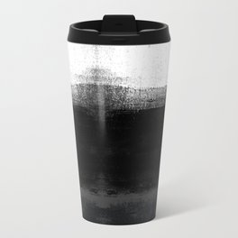 Ocean No. 2 - Minimal ocean abstract painting in black and white Travel Mug
