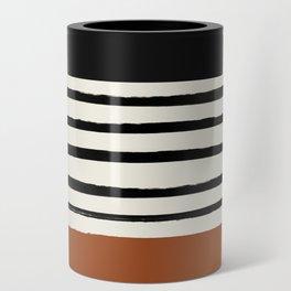 Burnt Orange x Stripes Can Cooler