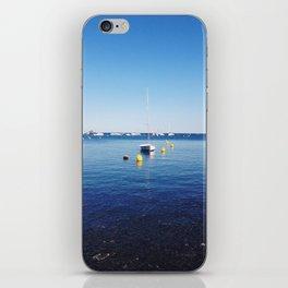 Boat stillness iPhone Skin