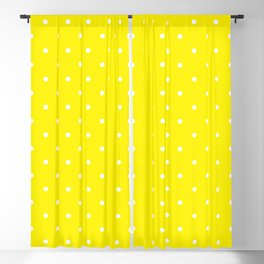 Small White Polka Dots with Yellow Background Blackout Curtain