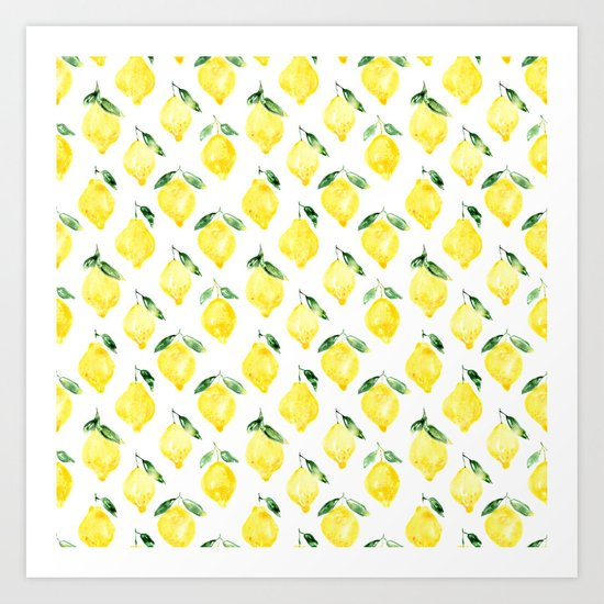 Sicilian lemons || watercolor by katerinaizotova