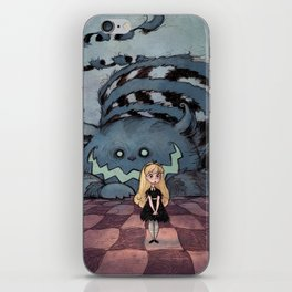 Alice and the Cheshire Cat iPhone Skin