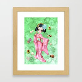 Wagashi Framed Art Print