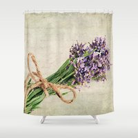lavender Shower Curtains featuring Lavender by ThePhotoGuyDarren