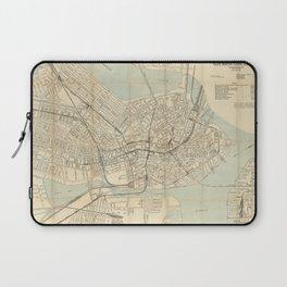 Vintage Downtown Boston Subway Map (1917) Laptop Sleeve