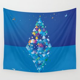 christmas Image 1 from 2 Wall Tapestry
