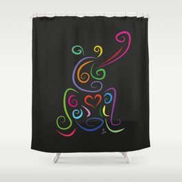 The frog - The heart of Esperanza Shower Curtain