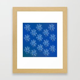 Snowflakes Pattern Framed Art Print